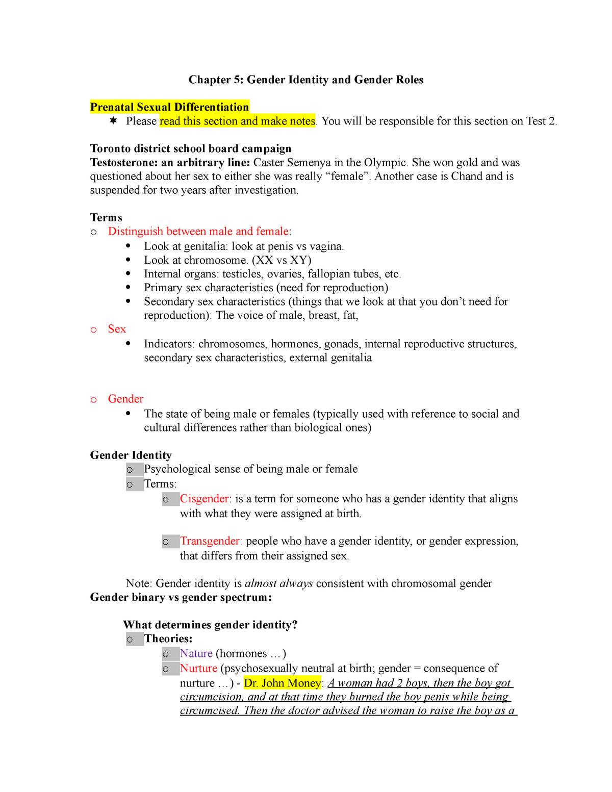 Lecture notes, lecture chapter 5 - Collab 2D03 - McMaster
