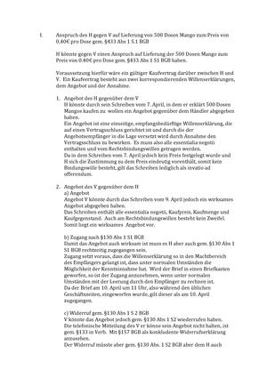 Wirtschaftsrecht Fälle Wirtschaftsrecht I Studocu