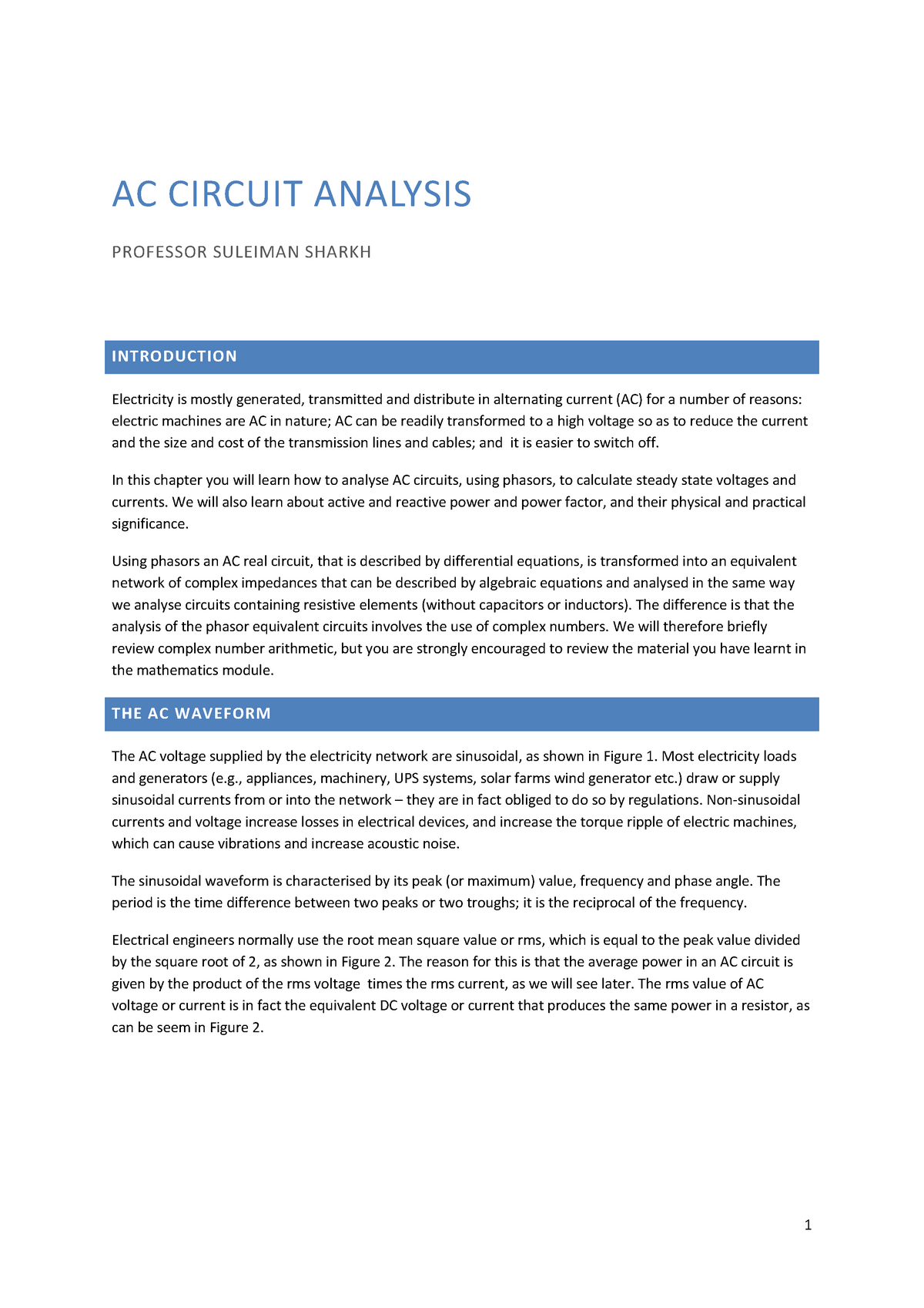 Currents In Rc Circuits And Rl Circuits With Increasing Frequency