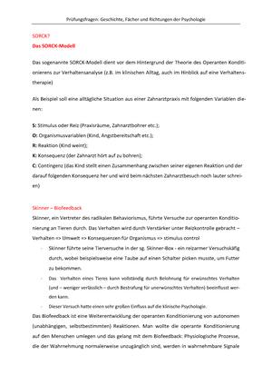 Übungen Prüfungsfragen - PPA.03101UB: Einführung in Fächer und ...