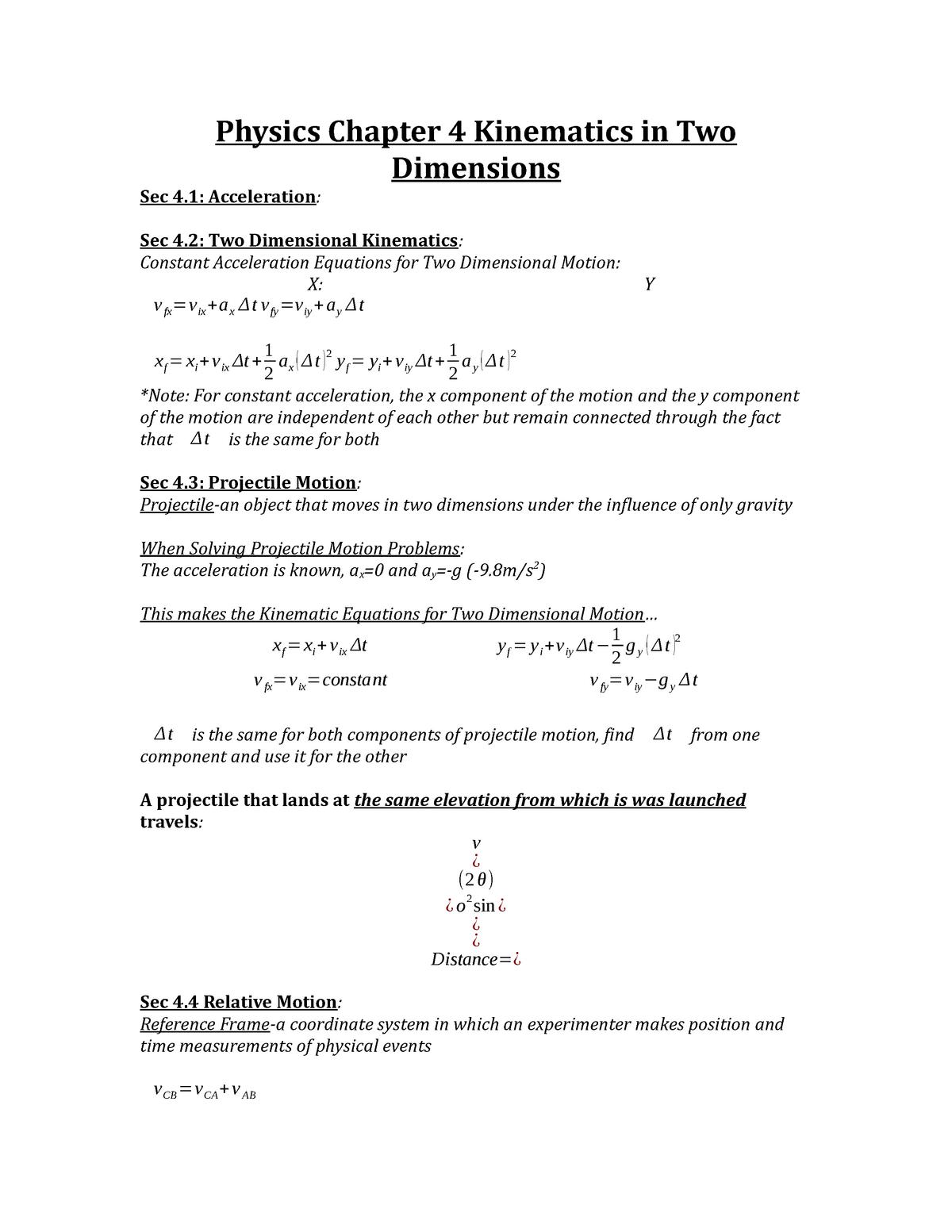 �yf�y�l9k�yi����9�+_PhysicsChapter4KinematicsinTwoDimensions-PH211-StuDocu