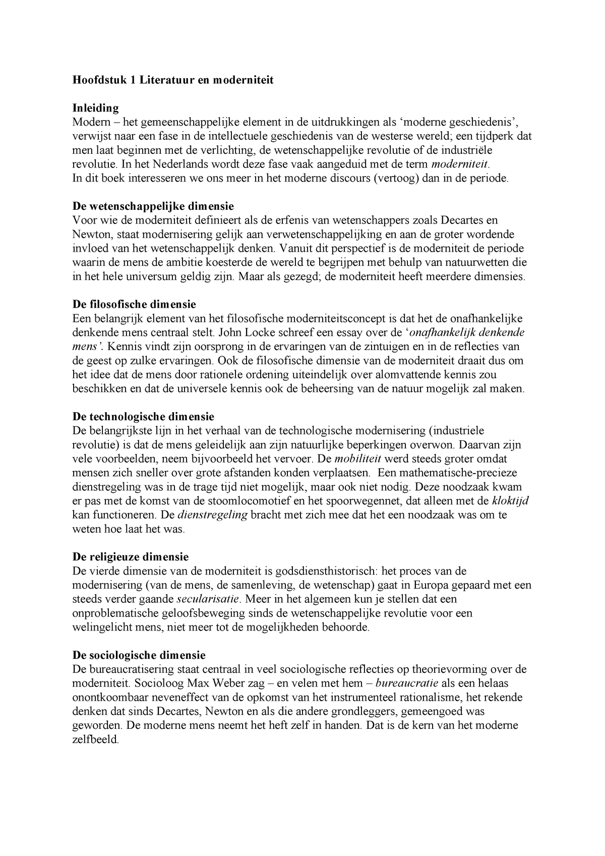 Samenvatting De Geschiedenis Van De Moderne Nederlandse