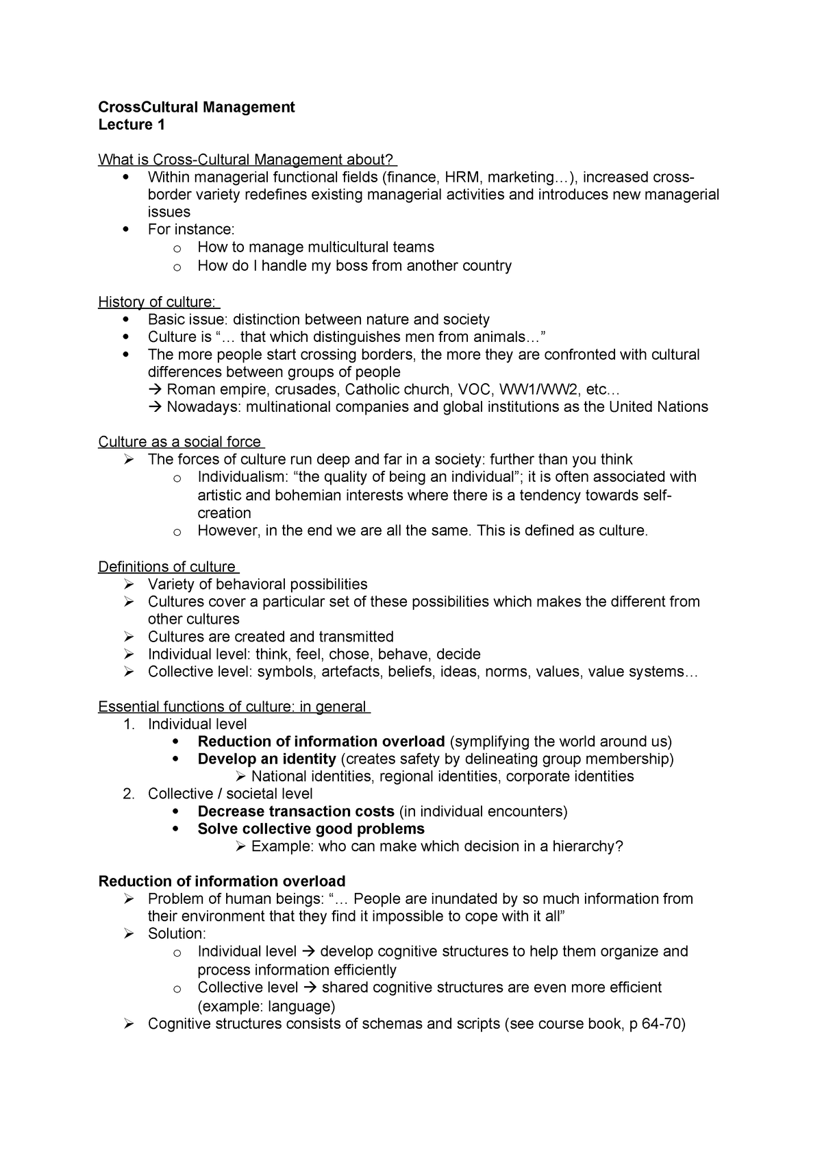 CCM Lecture Notes - College-aantekeningen 1-4 - EBB036A05
