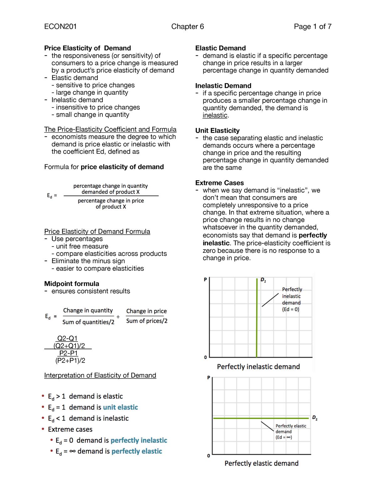 Microeconomics Chapter 6 Lecture Notes Economics 201 Studocu