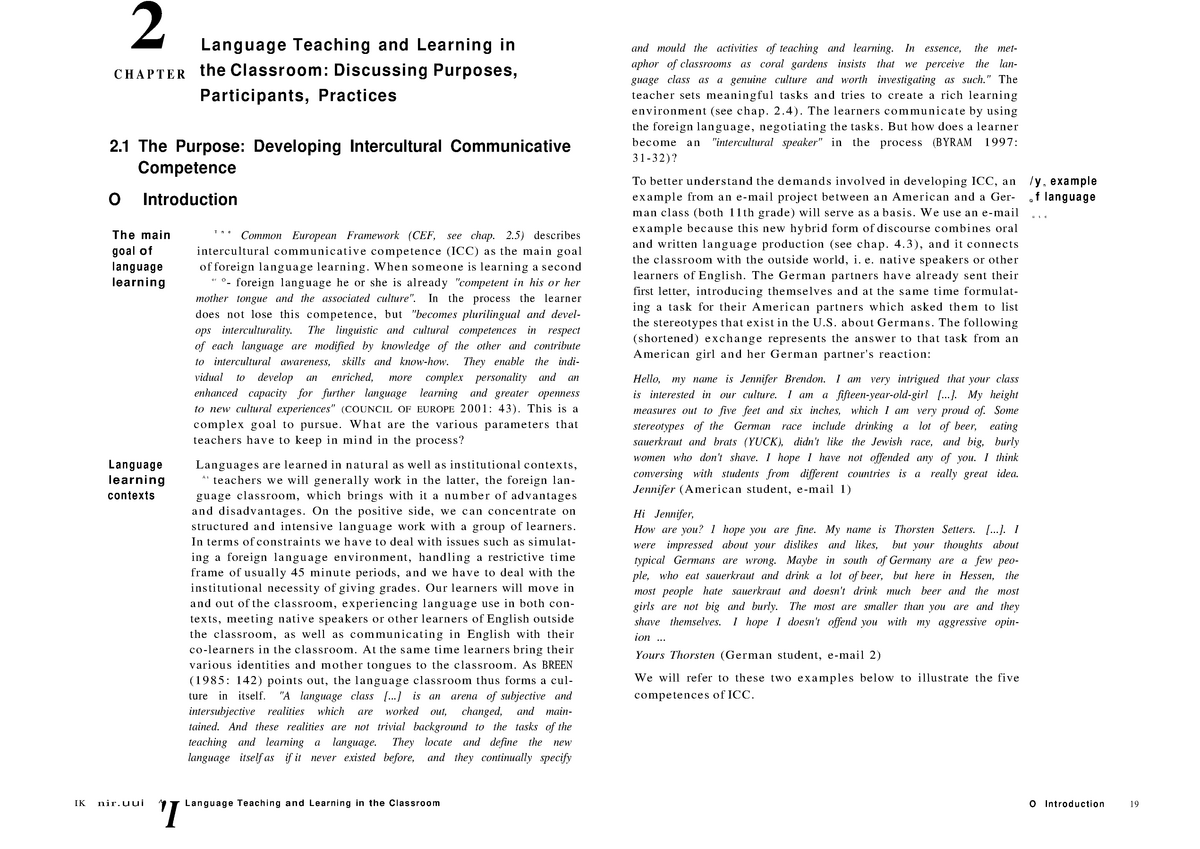 Developing ICC - 05 008 110: Introduction to Teaching