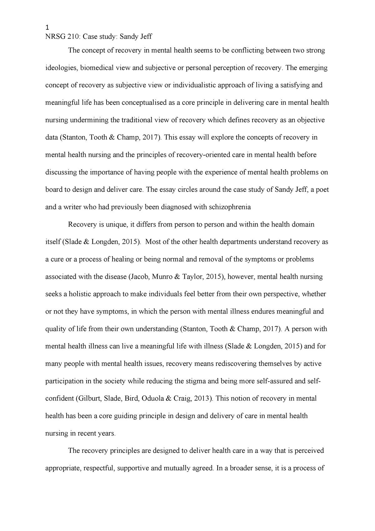 NRSG210 Assignment 2 - Mental health Ax - Nrsg210: Mental health
