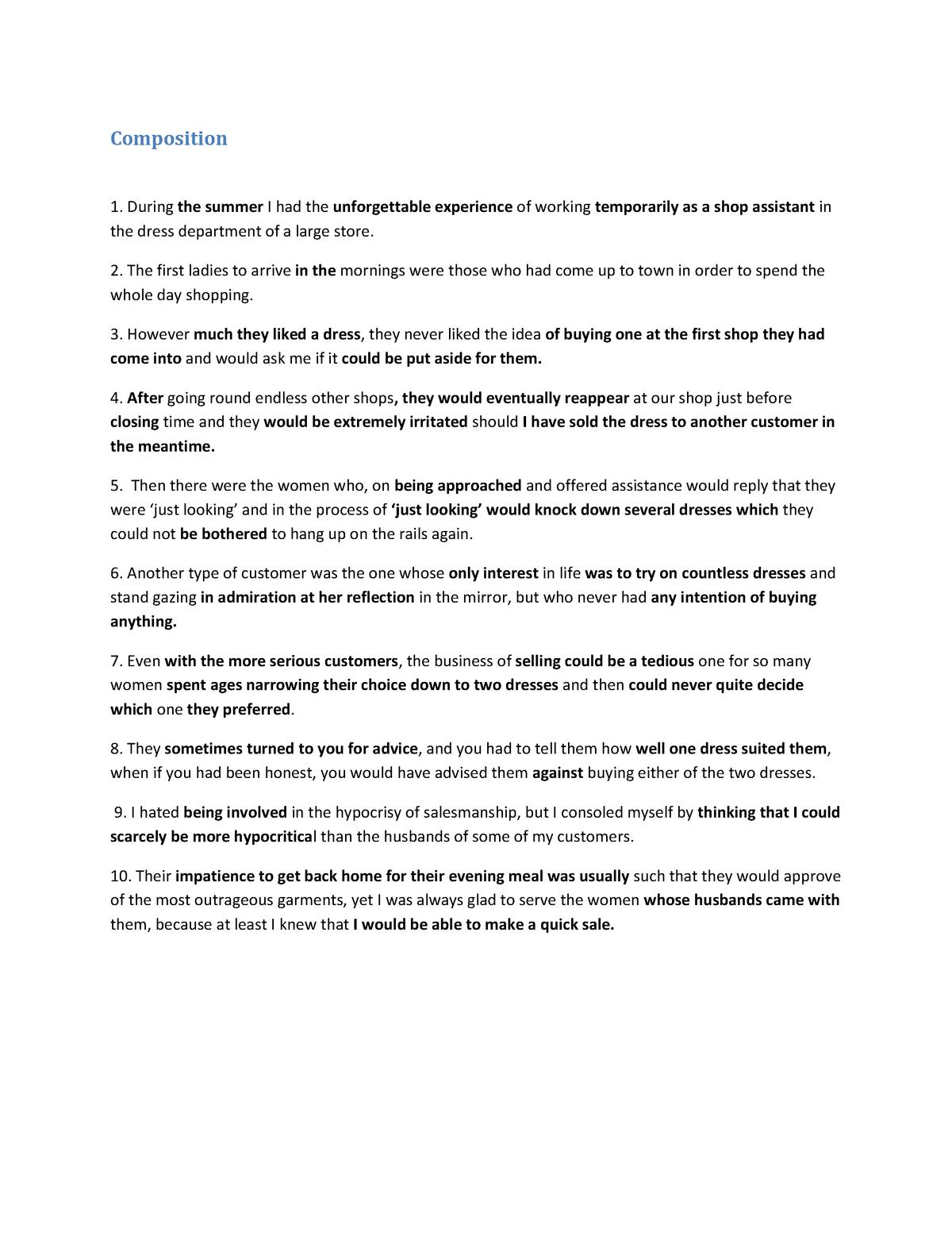 Summary Vocational English III: complete - StuDocu