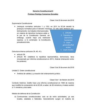 Derecho Constitucional I I Itam Studocu