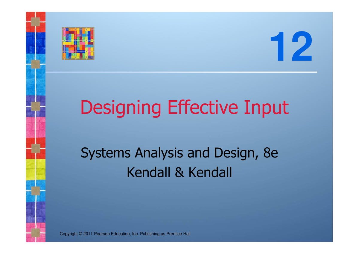 Kendall Sad8e Ch12 Systems Analysis Design Chapter 12 Studocu