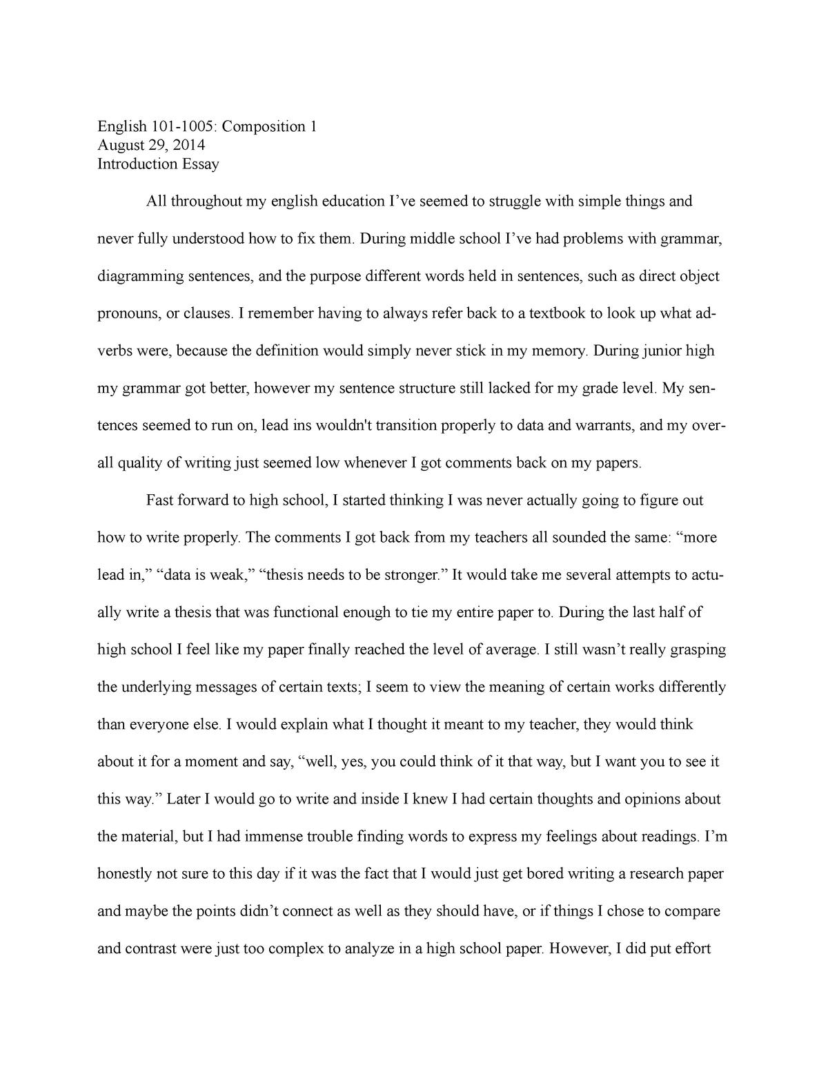 Essay on quality service