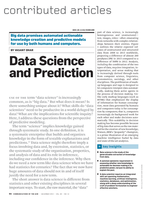 Data science and prediction - COMP30018: Knowledge