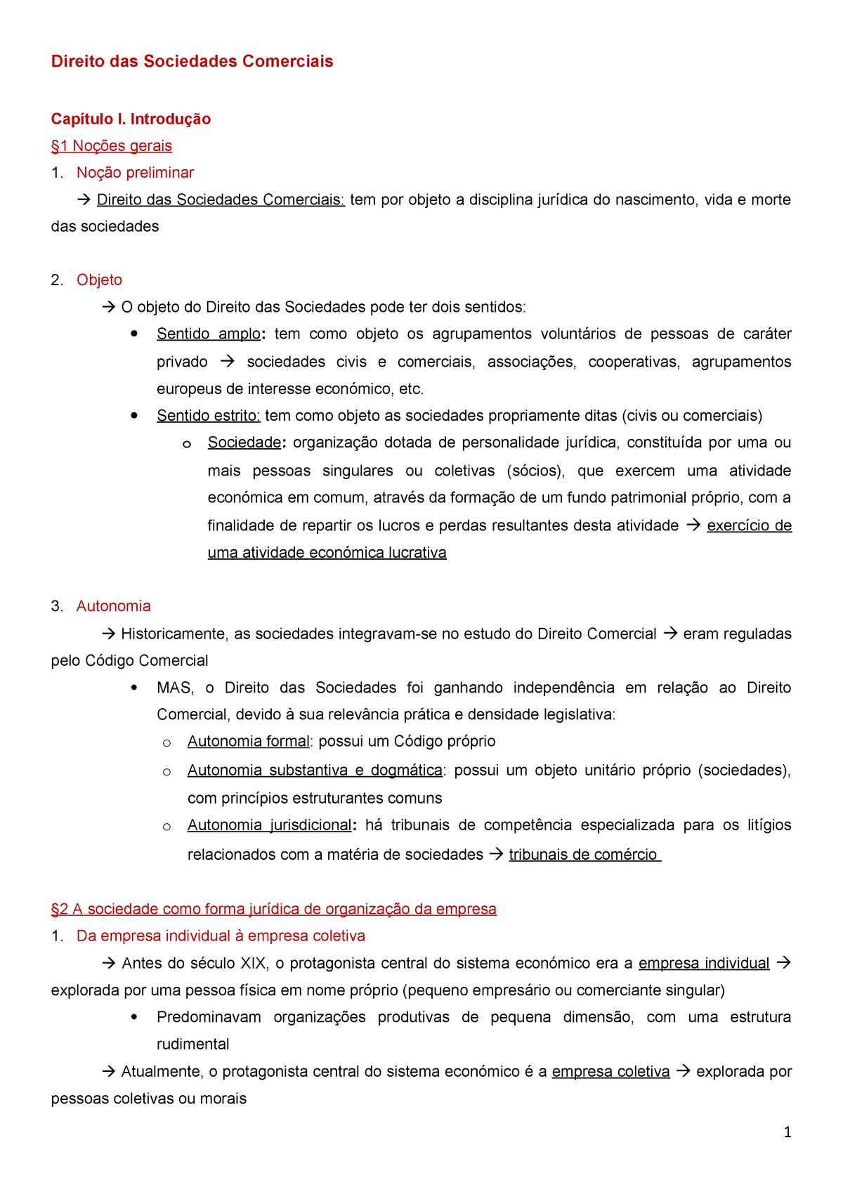 42de826b9c8f Direito SComerciais livro - Sociedades Comerciais - StuDocu