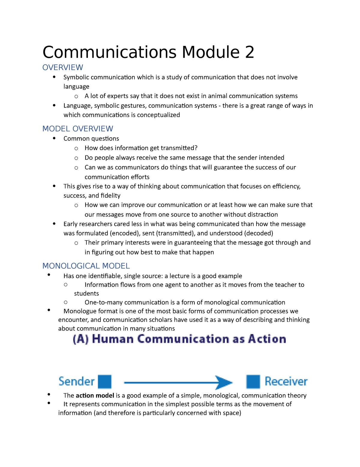 Communications Module 2 - Cmns 110 - SFU - StuDocu