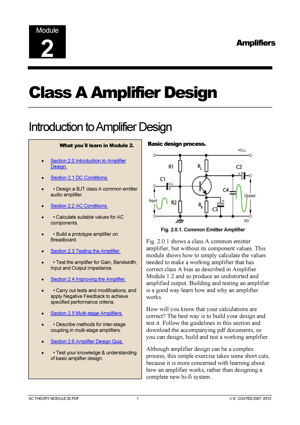 Amplifiers Module 02 Electronic Devices And Circuits Studocu