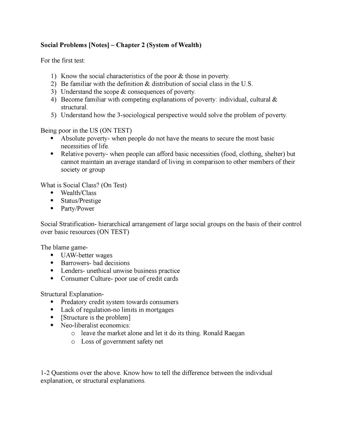 Social Problems [Notes] - Chapter 2 - SOC 1306 - StuDocu