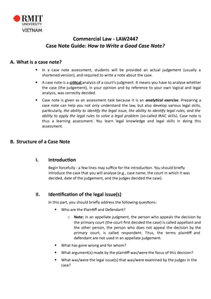 How to write a casenote law low memory after resume
