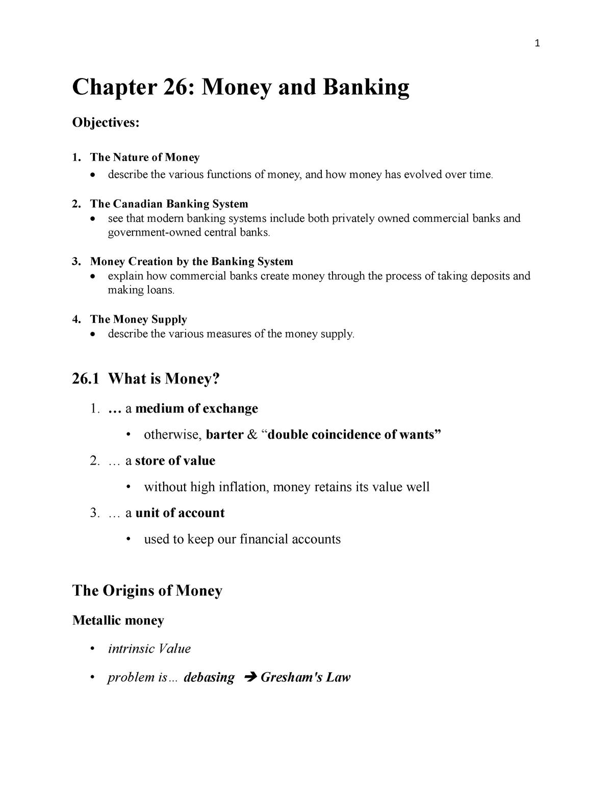 Ch26 - lecture note chap 26 - ECON 1221 - Langara - StuDocu
