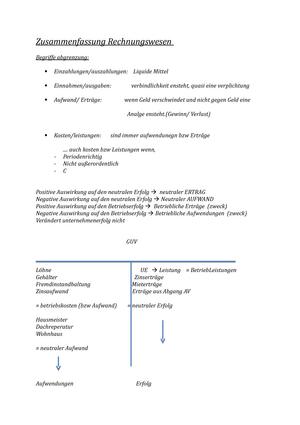 Rechnungswesen zusammenfassung Uni köln - Technik des betrieblichen ...