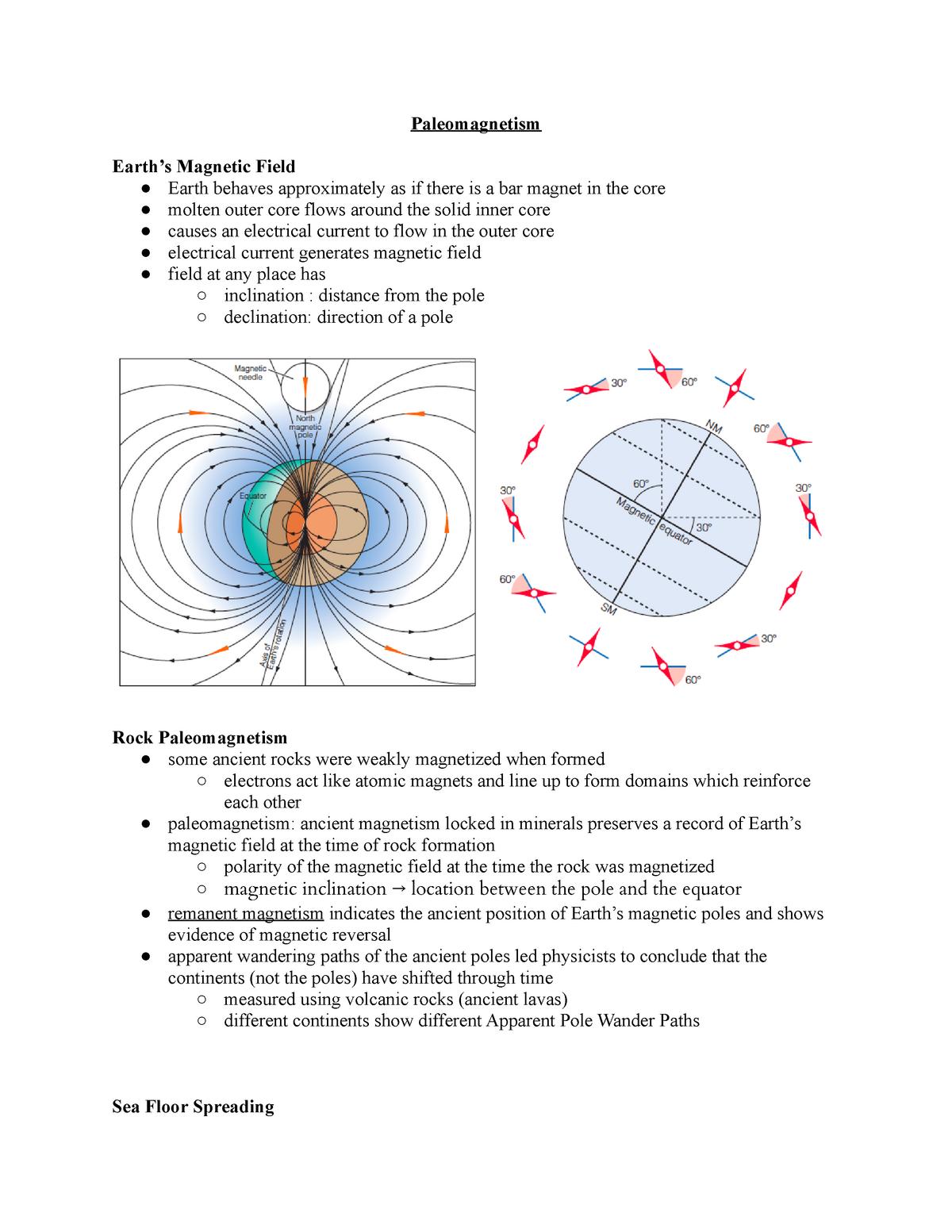 16  Paleomagnetism - Eas100: Planet Earth - StuDocu
