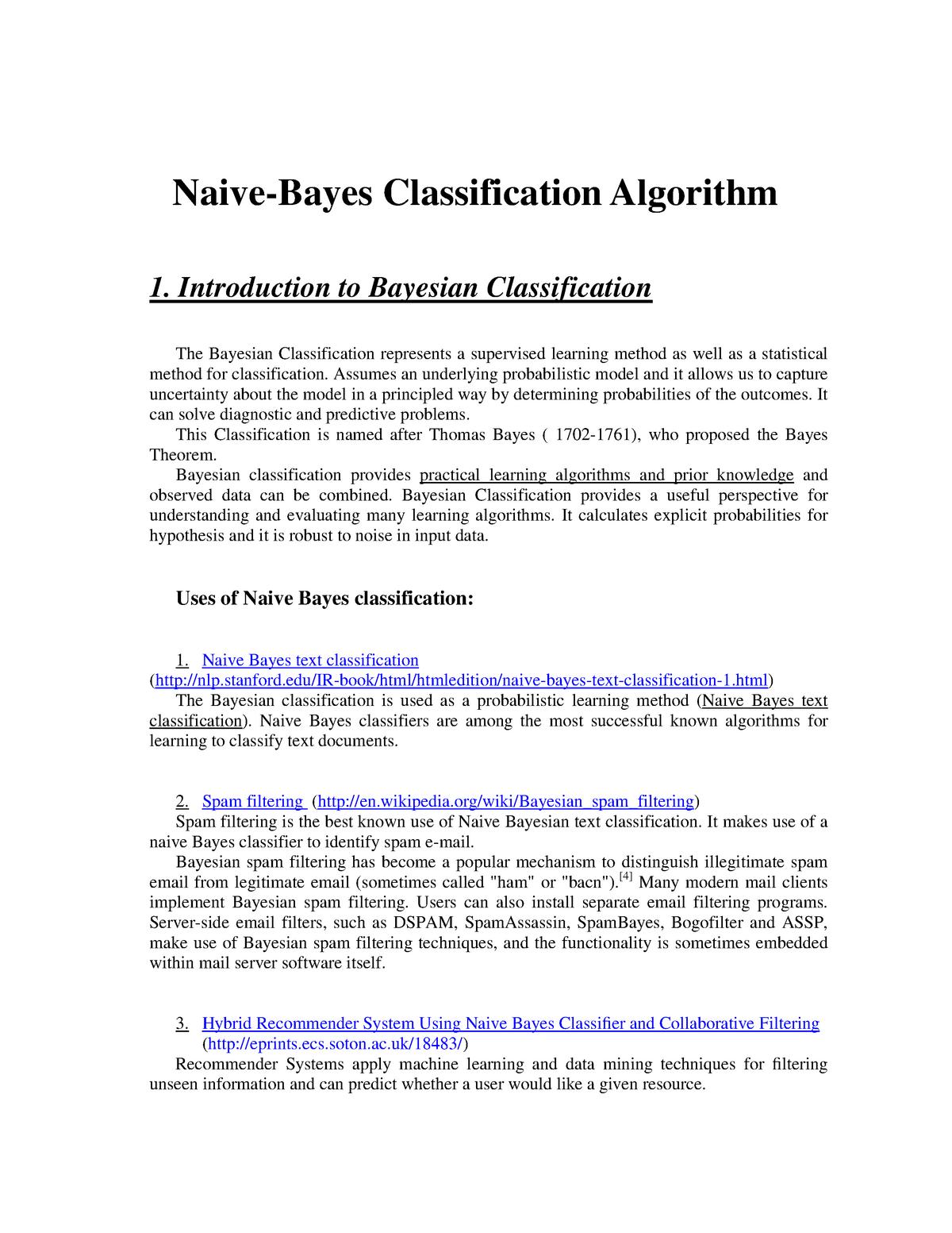 Lab4-Naive Bayes - notes - Entrepreneurship - StuDocu