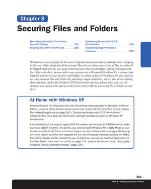 Chapter 8 - Securing Files and Folders - Principles of Operating