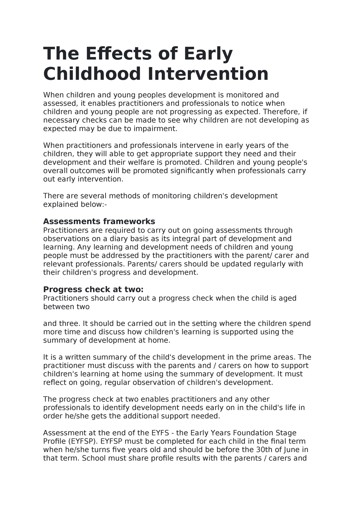 Early Interventions Explained >> The Effects Of Early Childhood Intervention 14011 Child