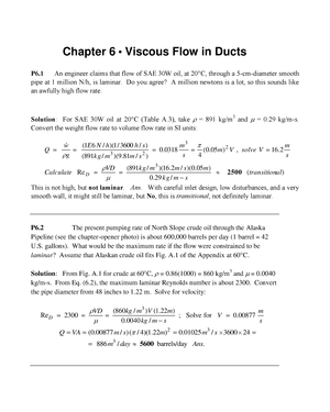 Solution manual fluid mechanics 7th edition chapter 6 studocu fandeluxe Gallery