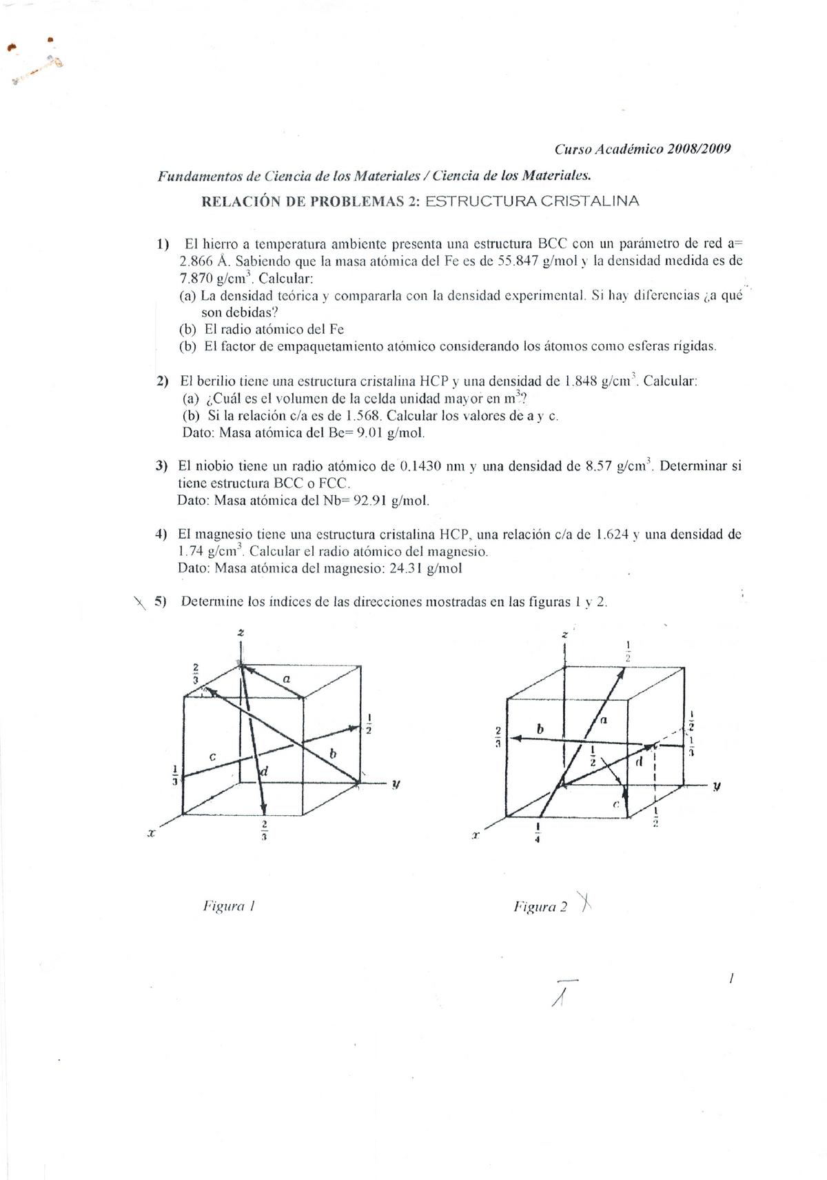 Relacion De Ejercicios Materiales 15012004 Ujaen Studocu