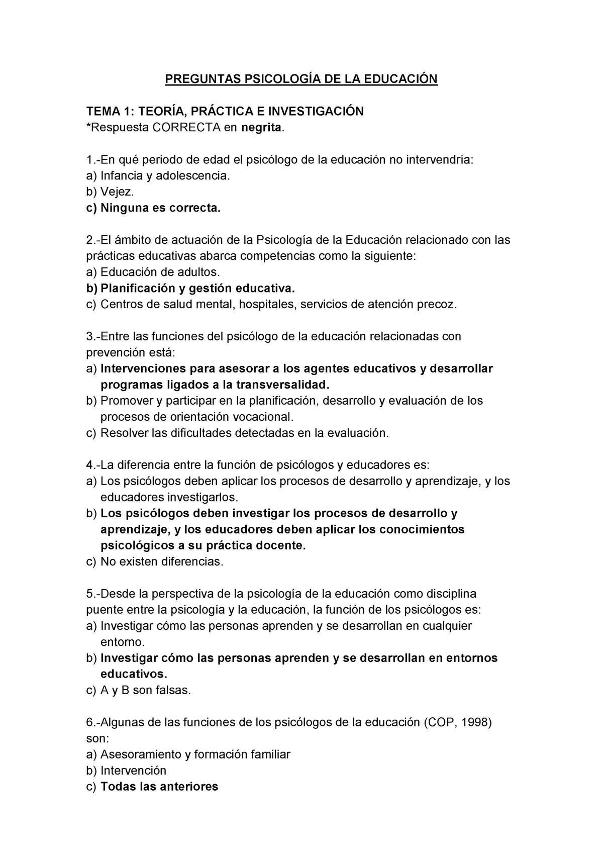 Preguntas De Repaso Pdl27 Umh Studocu