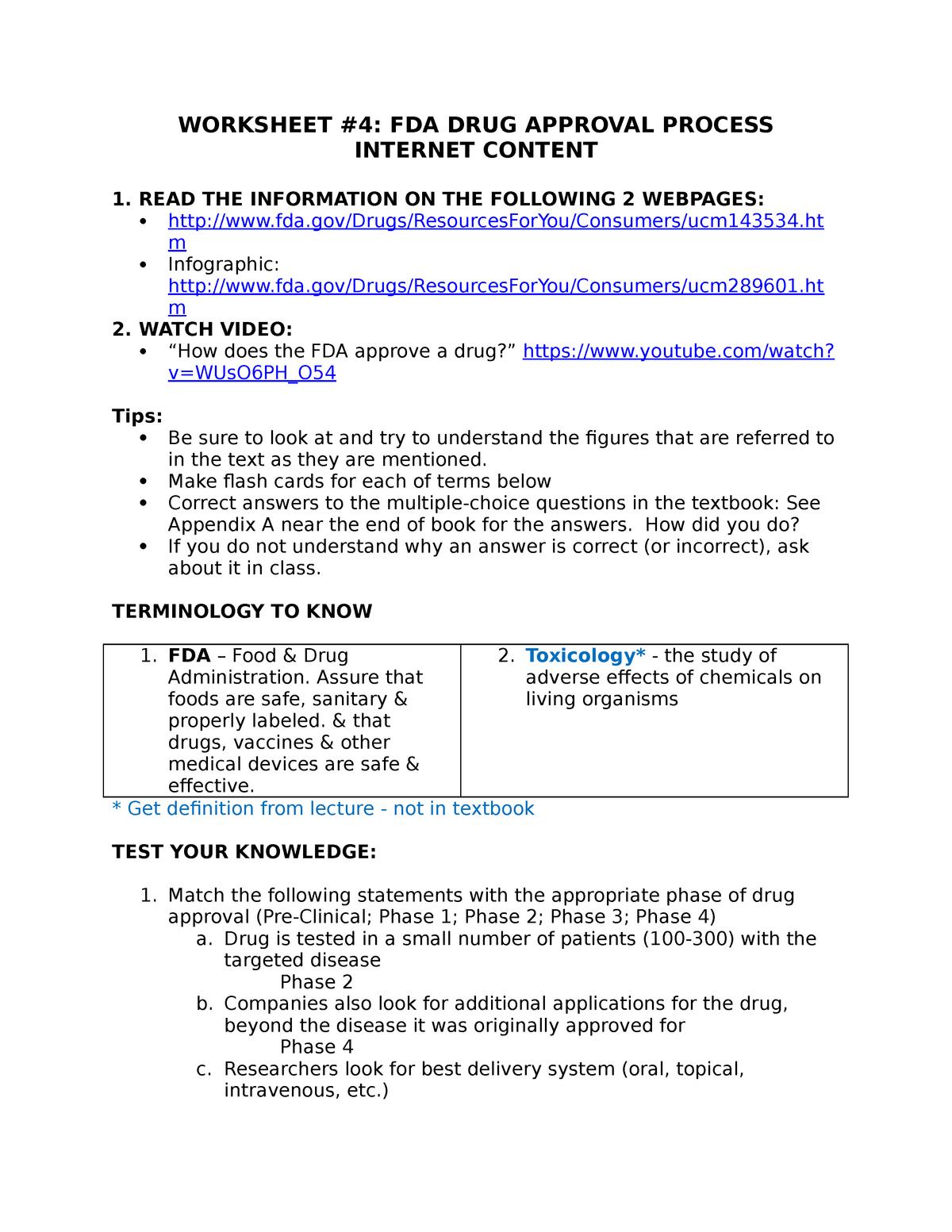 BIO A4 worksheet - Professor Greg Dahlem - BIO 120 - NKU