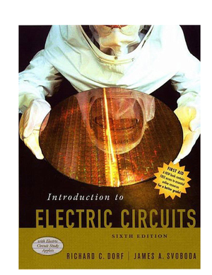 Solutions Manual For Introduction To Electric Circuits 6th Edition