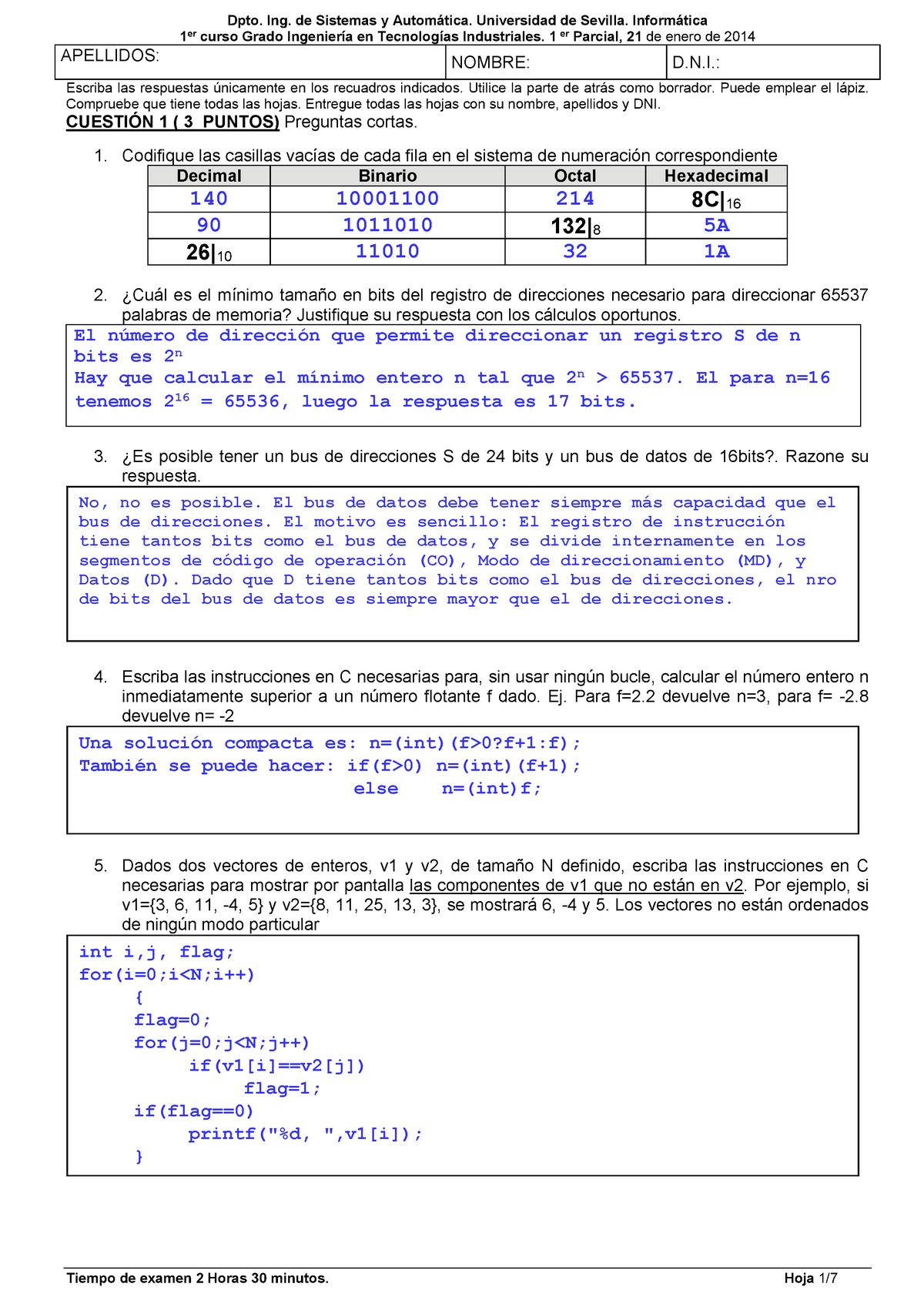 Examen 21 Enero 2014 Preguntas Y Respuestas Studocu