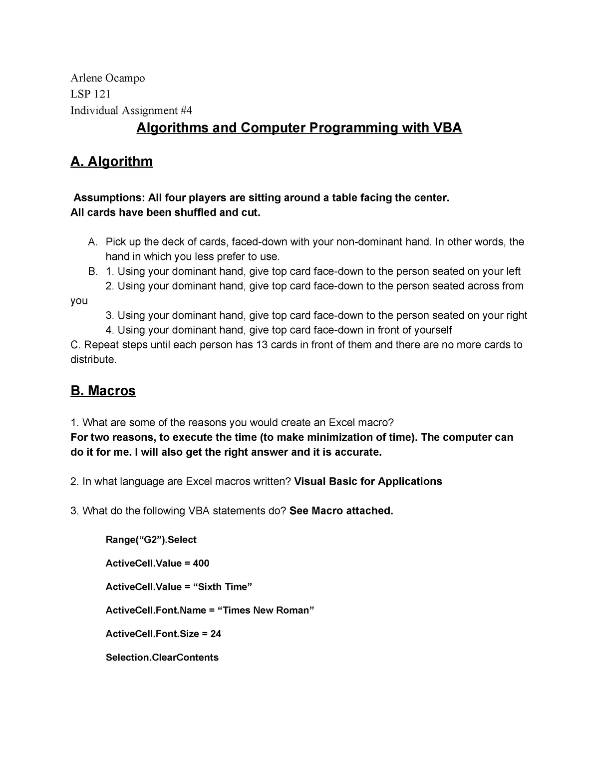 Individual Assign 4 - LSP 121: Quantitative Reasoning And