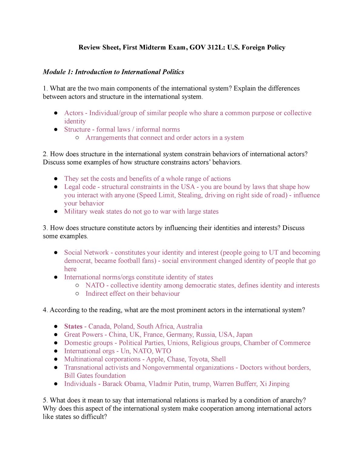 Gov review sheet test 1 - Moser - StuDocu