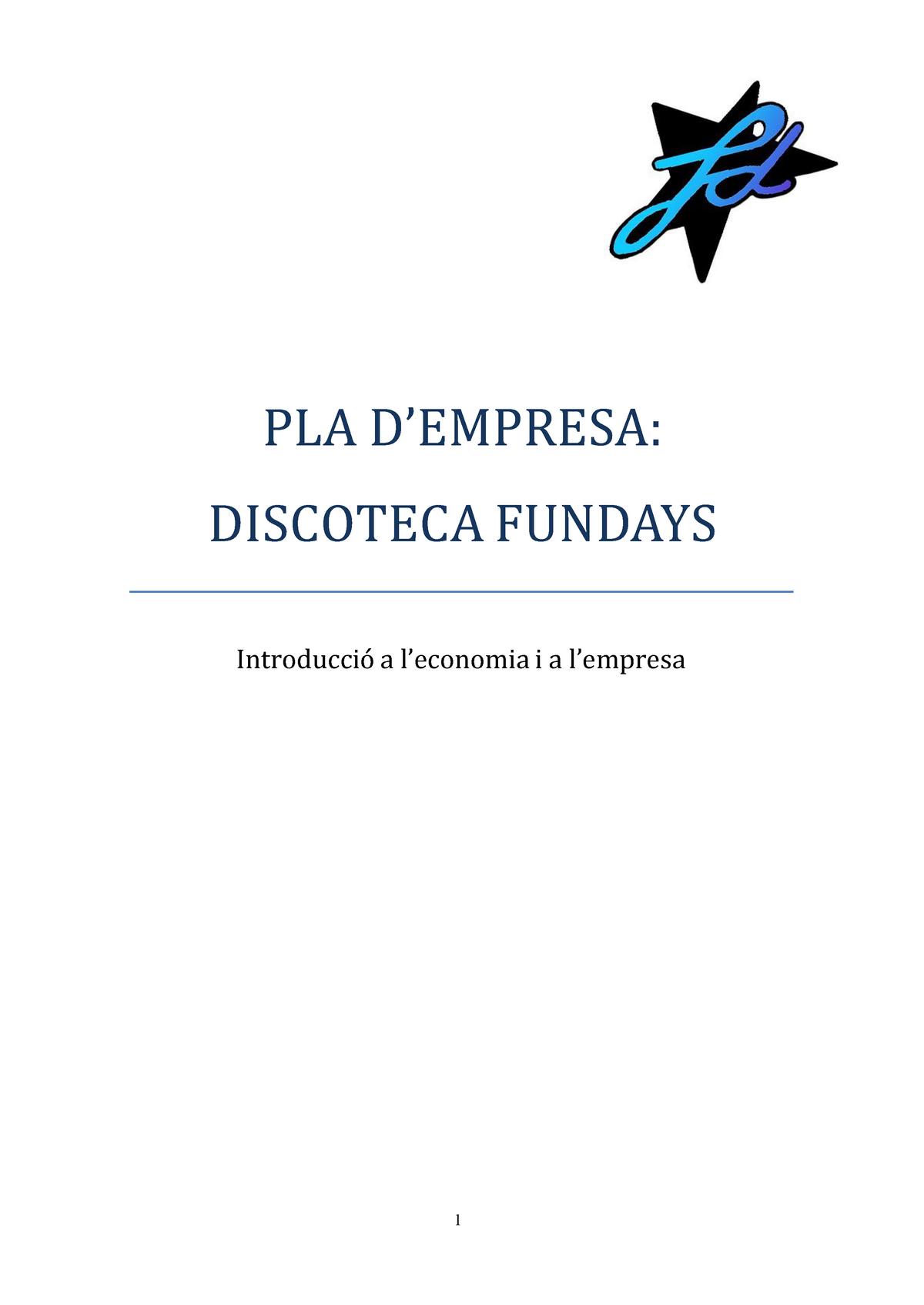 Trabajo Final Plan De Empresa De Una Discoteca 12224101