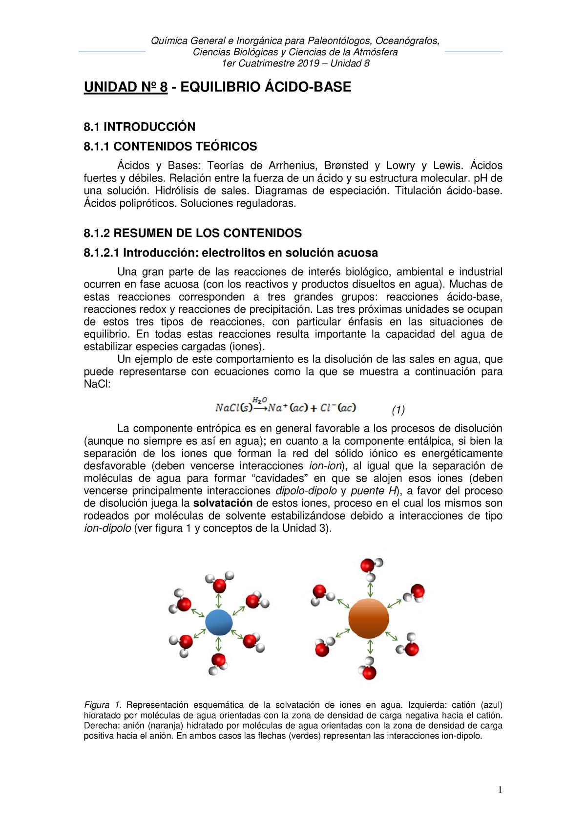 Unidad 8 1c 2019 Química General E Inorgánica I Uba