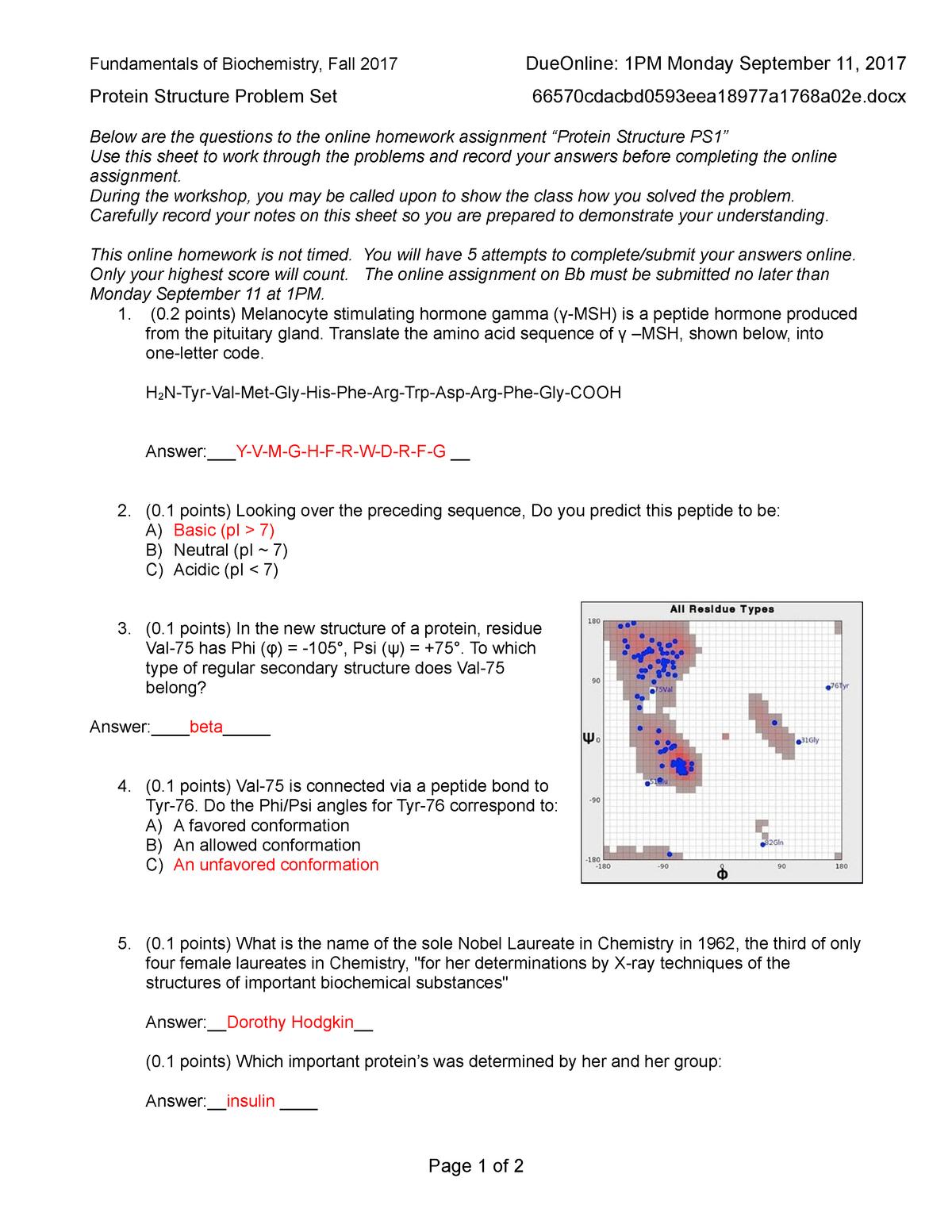 HW Protein structure Problem Set - MEDS 5003: Fundamentals