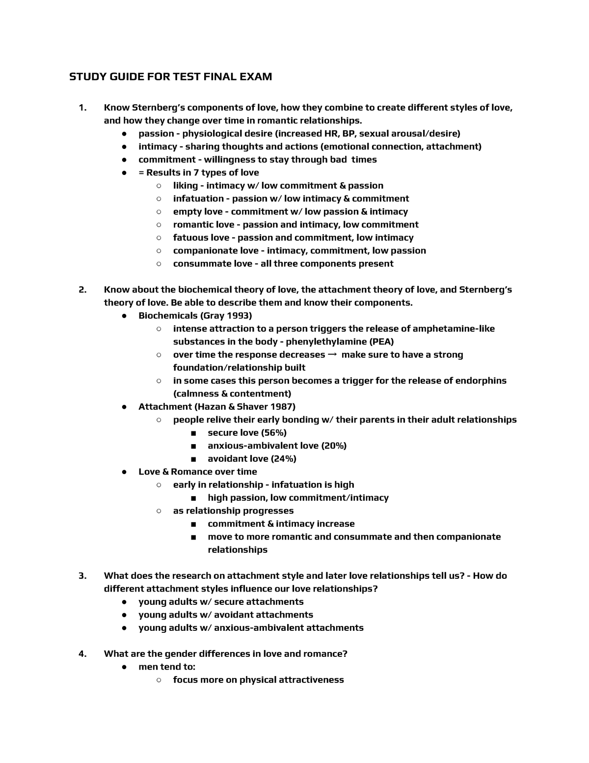 Psych 230 Exam 3 Study Guide - PSYCH 230: Developmental Psychology