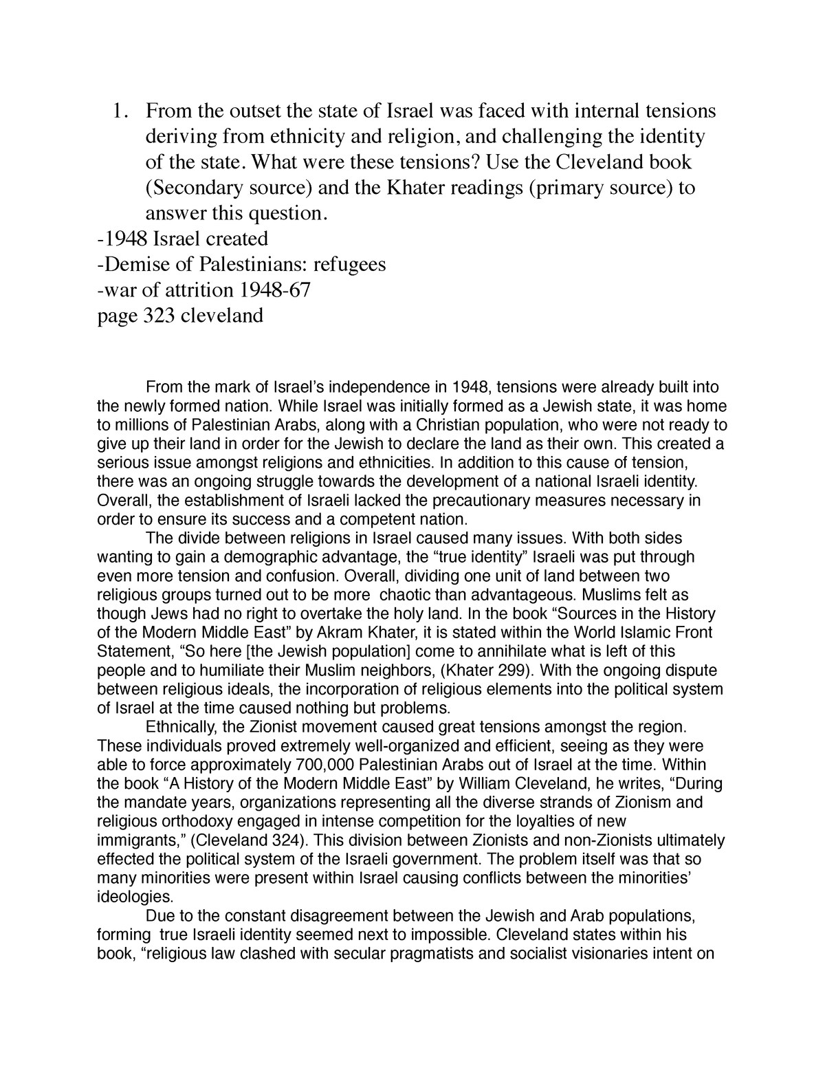 Exam 2013 - HI 270: Modern Middle East - StuDocu