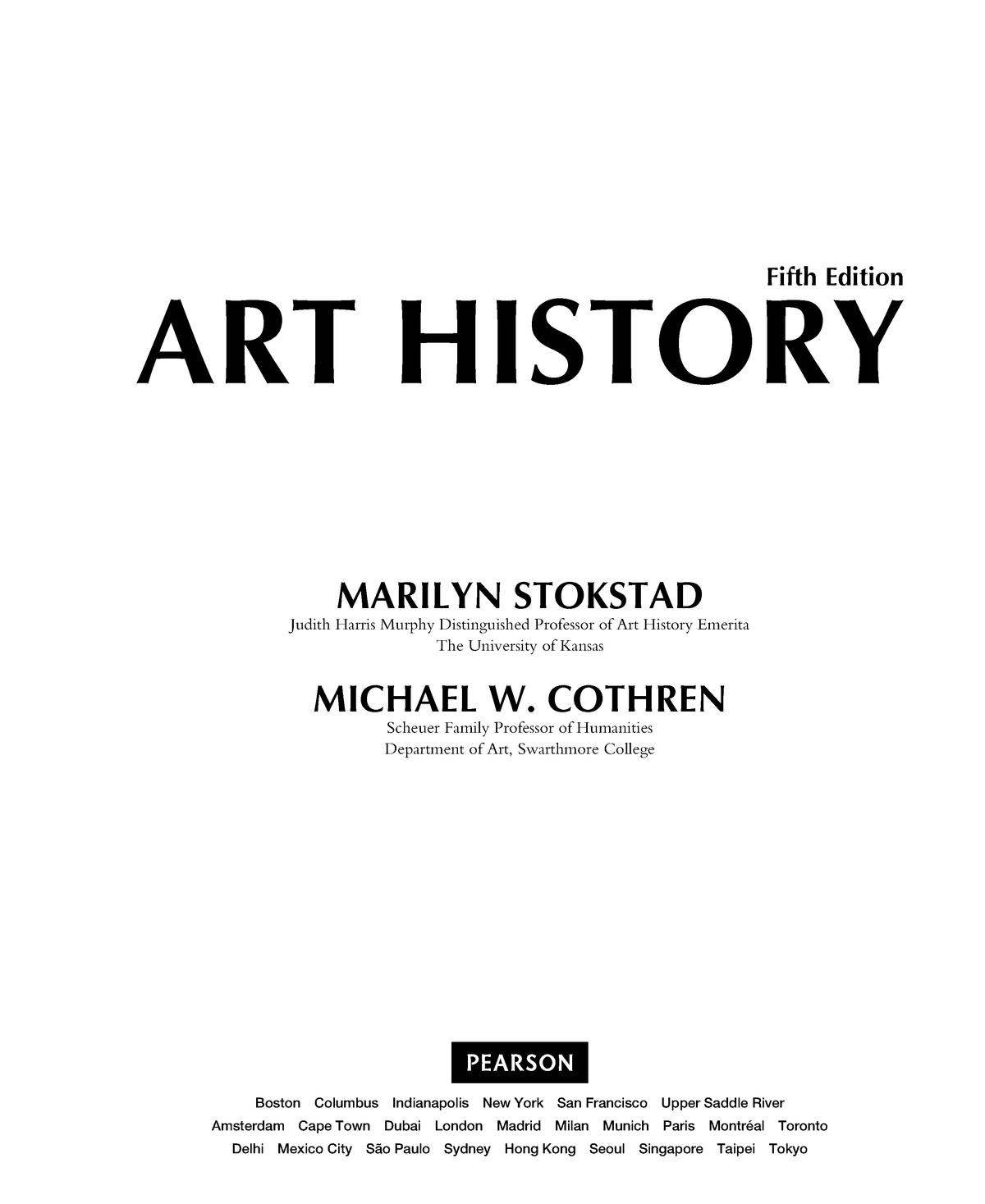 stokstad and cothren art history 5th edition