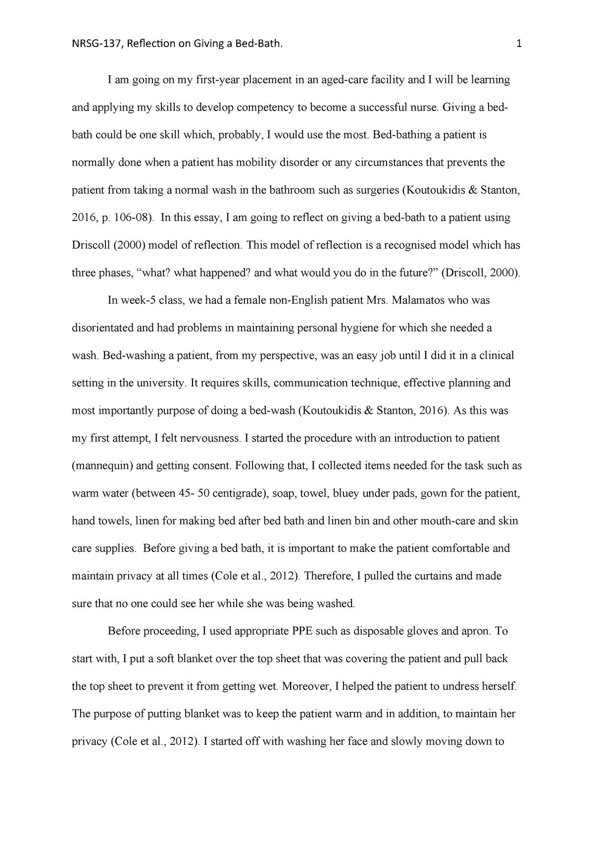 nursing skills essay
