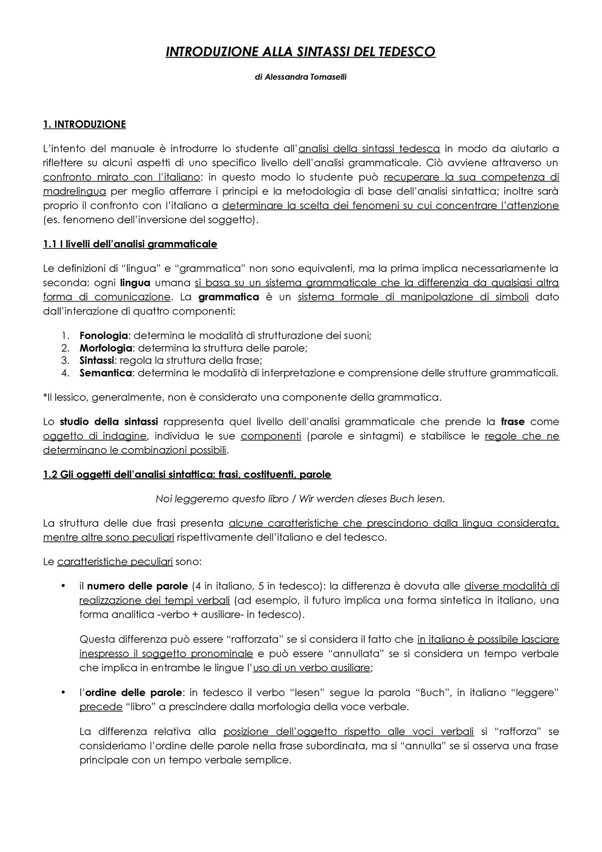 Tomaselli Lingua Tedesca 1 L Lin 14 8048259 Uniroma2