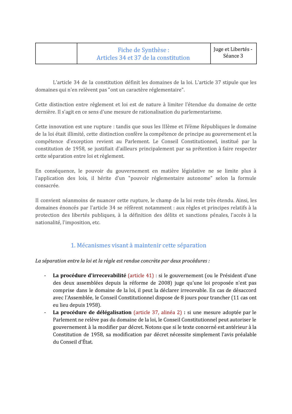 Dissertation Conseil Constitutionnel Gouvernement Juges • Buy Case study