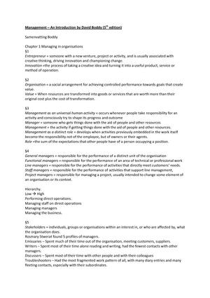 Summary Book Management An Introduction Management En