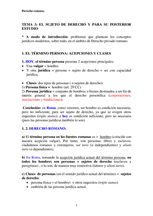 9692466370fa Sujeto de derecho en Roma- Derecho Romano - Derecho Romano - StuDocu
