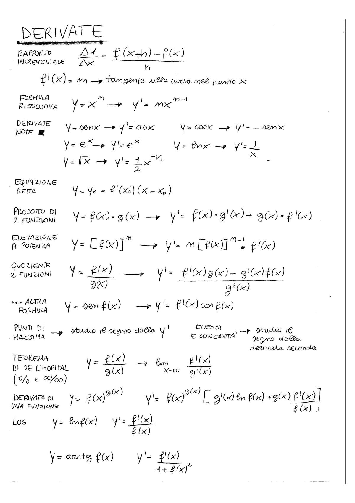 Derivate - formulario-convertito - Analisi Matematica ...