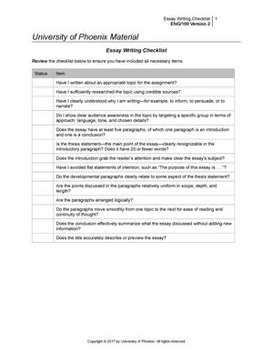essay revision checklist pdf
