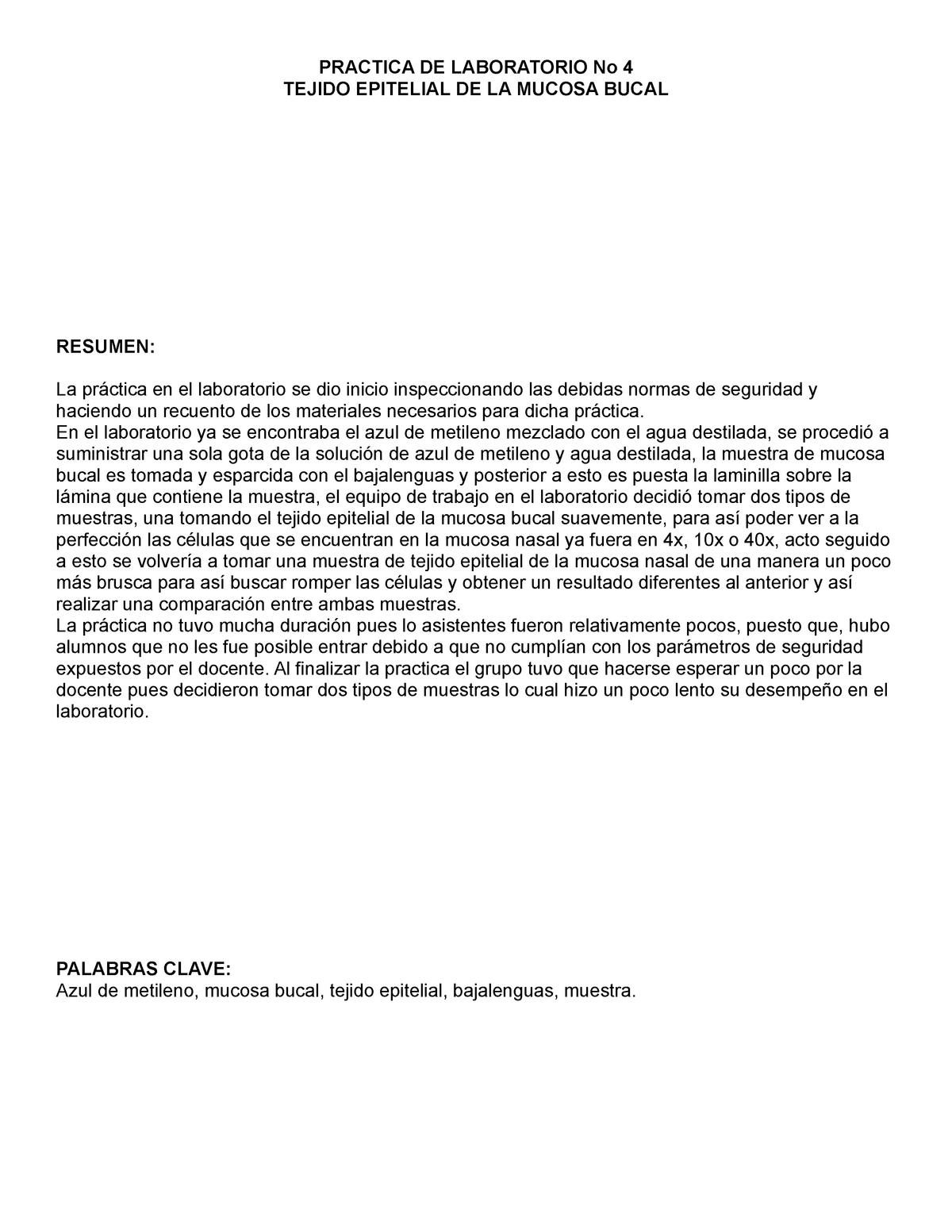 Celulas De La Mucosa Bucal Biología General Udec Studocu