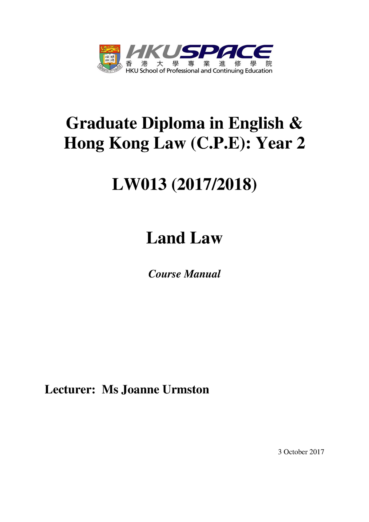 Course Manual Land Law - 456Z0404: Land Law - StuDocu