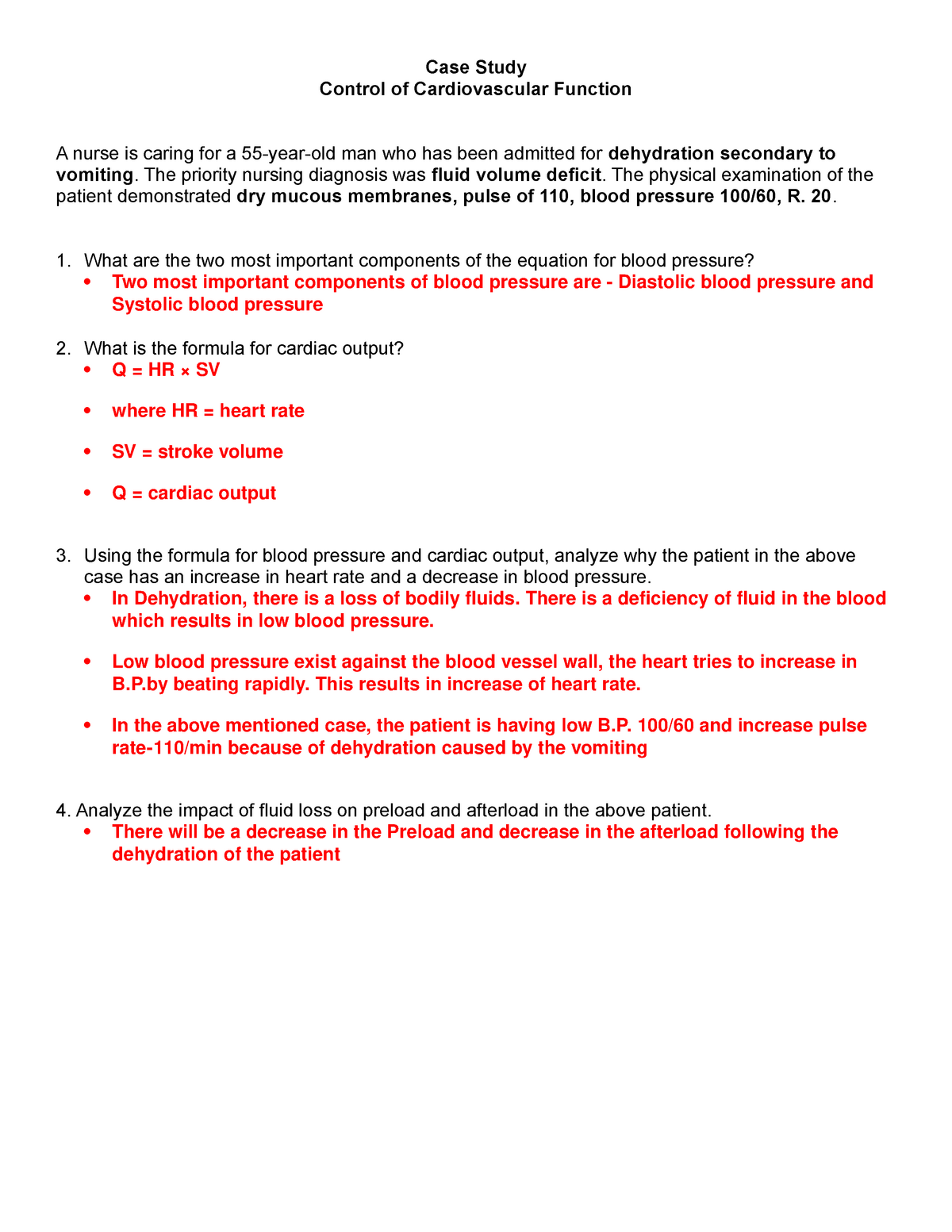 Control Of Cardiac Function Case Study Biol 2214 Brcc Studocu
